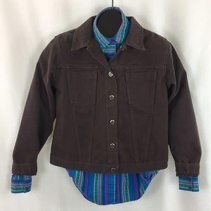High Sierra Brown Denim Jacket